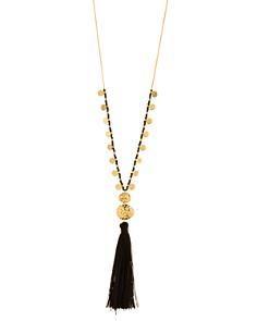 "Gorjana - Leucadia Beaded Tassel Necklace, 19.5"""