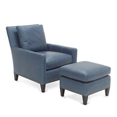 Bloomingdale's Artisan Collection Gabe Chair and Ottoman Set_0