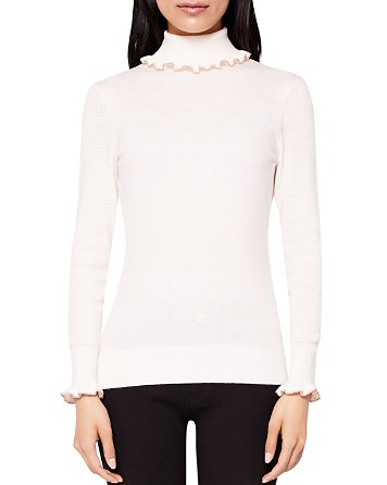 $Ted Baker Ceilya Frill Roll Neck Sweater - Bloomingdale's