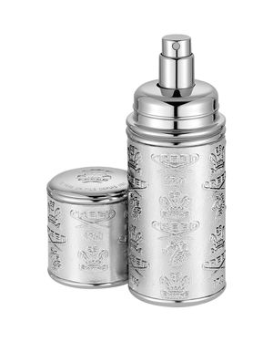 DELUXE LEATHER & SILVER-TONE BOTTLE ATOMIZER