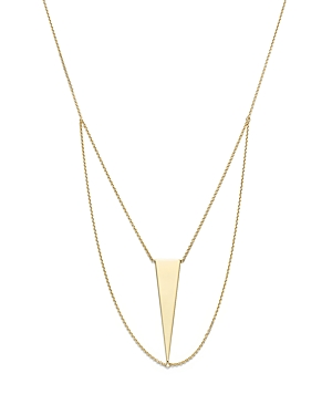 14K Yellow Gold Triangle Chain Bib Necklace, 18 - 100% Exclusive