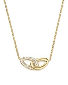 "IPPOLITA - 18K Yellow Gold Cherish Bond Diamond Pendant Necklace, 16"""
