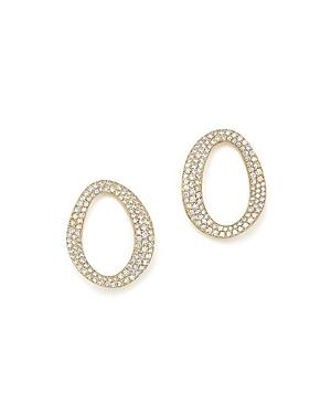 Ippolita 18K Yellow Gold Cherish Small Link Diamond Earrings-Jewelry & Accessories