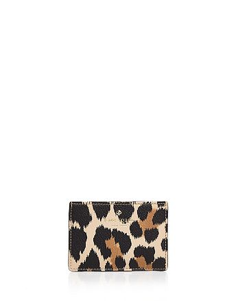 kate spade new york - Hyde Lane Leopard Print Leather Card Case