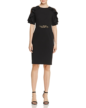 Adrianna Papell Embellished Ruffle Dress - 100% Exclusive