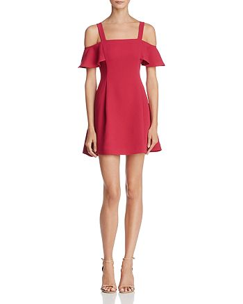 LIKELY - Bellamy Cold-Shoulder Mini Dress