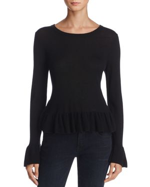 Joie Iona Wool-Silk Ruffled Sweater
