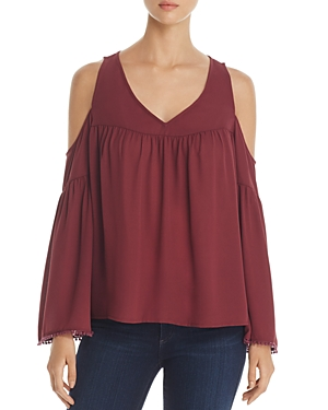 Finn & Grace Cold Shoulder Bell Sleeve Top - 100% Exclusive
