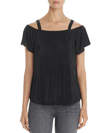 Design History - Ribbed Cold Shoulder Top