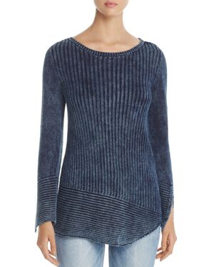 Heather B Asymmetric Ribbed Sweater