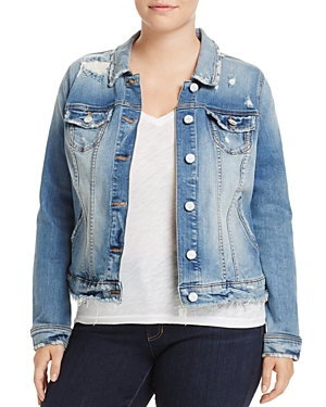 Slink Jeans Distressed Denim Jacket