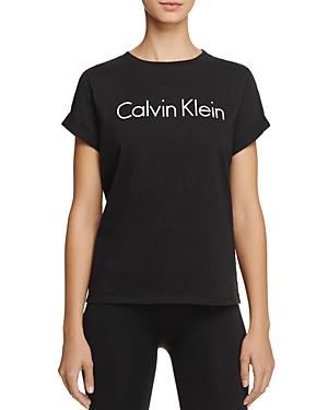 Calvin Klein Cuffed Short Sleeve Logo Tee