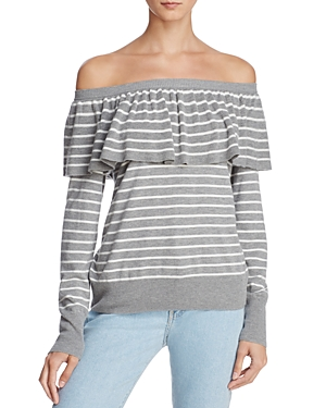 Joie Adinam Off-the-Shoulder Striped Sweater - 100% Exclusive