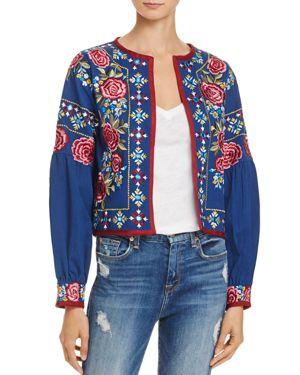 Misa Los Angeles Valentina Embroidered Jacket