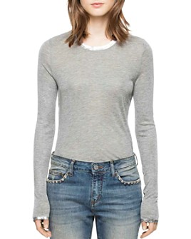 Zadig & Voltaire - Willy Long Sleeve Foil T-Shirt