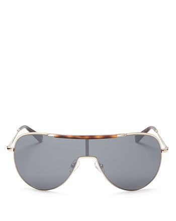 Kendall + Kylie - Women's Layla Mirrored Shield Sunglasses, 60mm