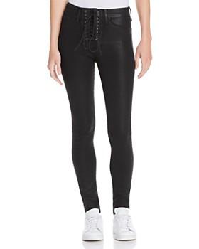 Hudson - Bullocks Coated Super Skinny Jeans in Black