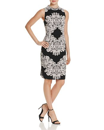 Adrianna Papell - Dolce Lace-Print Sheath Dress