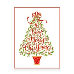 Caspari Embossed Christmas Tree Christmas Cards, Box of 10 - Bloomingdale's_0