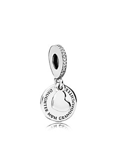 PANDORA Charm - Sterling Silver & Cubic Zirconia Three Generations Dangle - Bloomingdale's_0