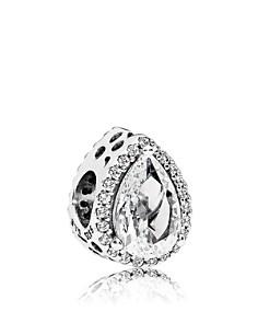 PANDORA Sterling Silver & Cubic Zirconia Radiant Teardrop Charm - Bloomingdale's_0