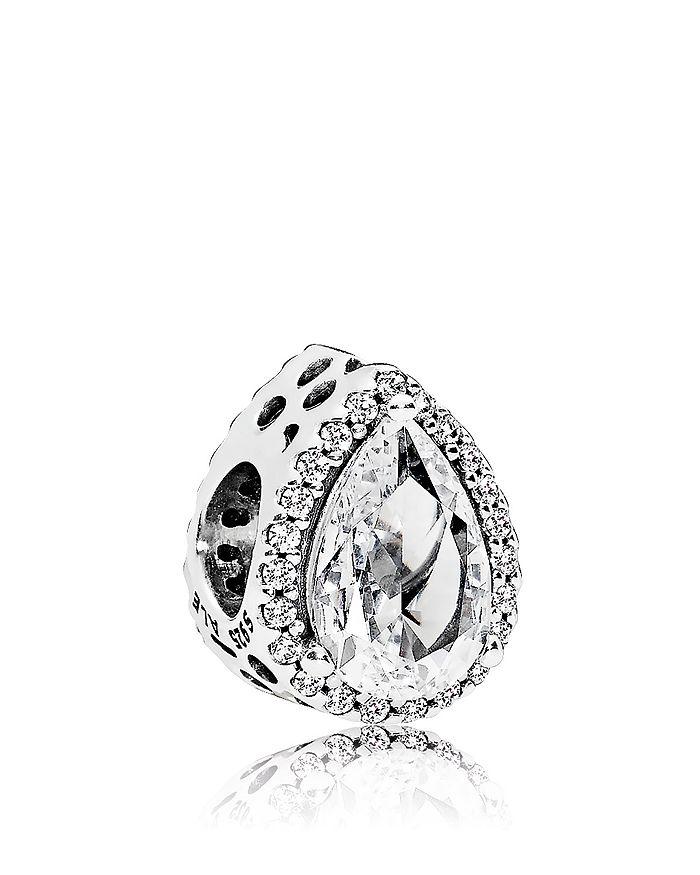 Pandora - Sterling Silver & Cubic Zirconia Radiant Teardrop Charm