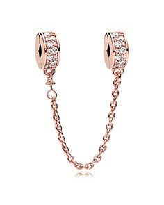 PANDORA Sterling Silver & Cubic Zirconia Rose Shining Elegance Safety Chain - Bloomingdale's_0