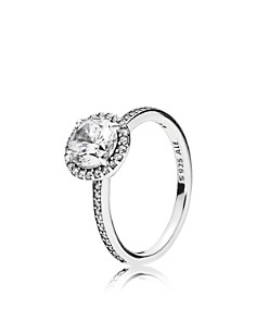 PANDORA - Sterling Silver & Cubic Zirconia Classic Elegance Ring