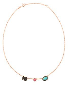 """TOUS - Onyx, Rhodonite & Amazonite Necklace, 18"""""""