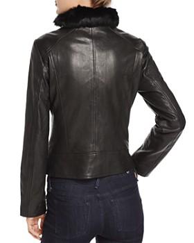 Andrew Marc - Cambridge Fur Trim Leather Jacket