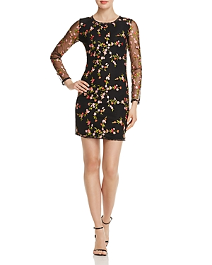 Olivaceous Crochet-Trim Embroidered Dress