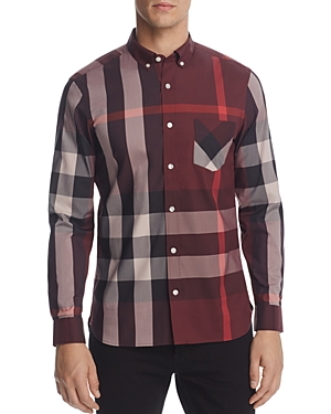 EAN 5045550003083 product image for Burberry Thornaby Plaid Regular Fit Button-Down Shirt | upcitemdb.com