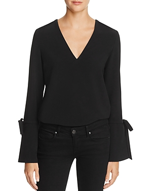 Dylan Gray TIE-DETAIL FLARE-CUFF TOP