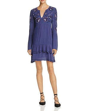 Parker Padma Bell-Sleeve Embroidered Dress