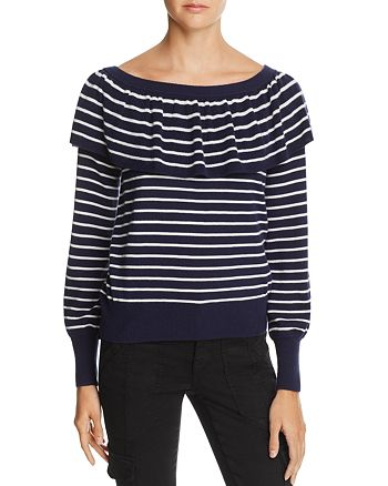 Joie - Adinam Ruffled Striped Sweater - 100% Exclusive