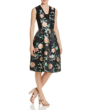 nanette Nanette Lepore Lace-Detail Floral Jacquard Dress - 100% Exclusive