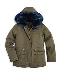 AQUA Girls' Faux-Fur-Trimmed Parka Jacket, Big Kid - 100% Exclusive - Bloomingdale's_0