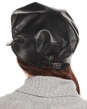 Eric Javits - Night Porter Leather Cap