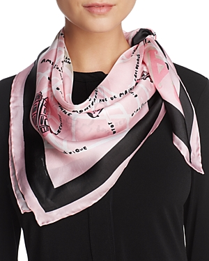 kate spade new york Paris Map Silk Square Scarf