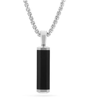 David Yurman - Men's Hex Pendant in Black
