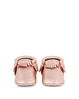 Freshly Picked - Girls' Rose-Gold Moccasins - Baby