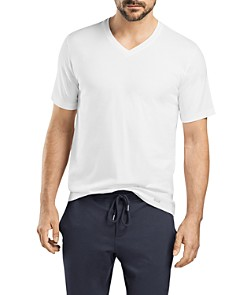 Hanro Living Short Sleeve V-Neck Tee - Bloomingdale's_0