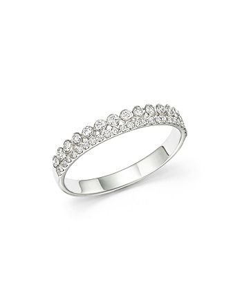 Bloomingdale's - Diamond Two Row Band in 14K White Gold, .30 ct. t.w - 100% Exclusive