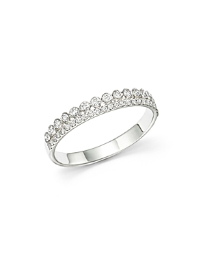 Bloomingdale's Diamond Two Row Band in 14K White Gold, .30 ct. t.w - 100% Exclusive
