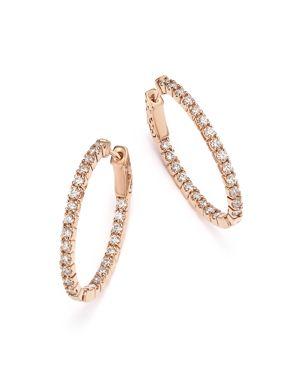 Bloomingdale's Diamond Inside-Out Oval Hoop Earrings in 14K Rose Gold, 1.50 ct. t.w. - 100% Exclusiv