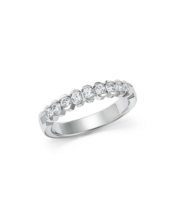 Bloomingdale's - Diamond Half Channel Band Ring in 14K White Gold, .50 ct. t.w - 100% Exclusive