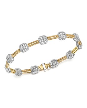 Bloomingdale's - Diamond Beaded Bracelet in 14K White and Yellow Gold, 1.50 ct. t.w. - 100% Exclusive