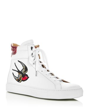 Belstaff Women's Mariner Hampton Leather Embellished High Top Sneakers