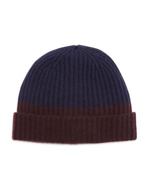 The Men's Store at Bloomingdale's Cashmere Color Block Cuff Hat