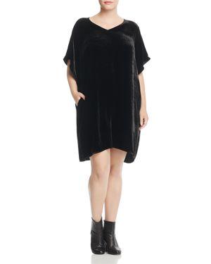 Eileen Fisher Plus Velvet Kimono Sleeve Dress